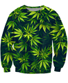 2015 Fashion Harajuku 3d long-sleeve Sweatshirt sudadera women tops pull femme moleton camisolas Weed Leaf sweats Jumper