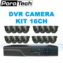A801E16C 16CH cctv system 16 channel dvr with digital camera infrared night time imaginative and prescient monitor safety CCTV digital camera go well with for indoor out of doors