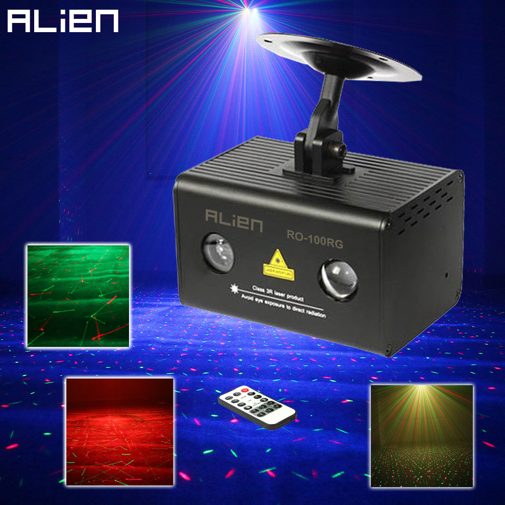 ALIEN IR Remote RG Galaxy Meteor Laser Projector Stage Lighting Effect LED RGB Water Wave Disco Party Lights DJ Dance Show Light