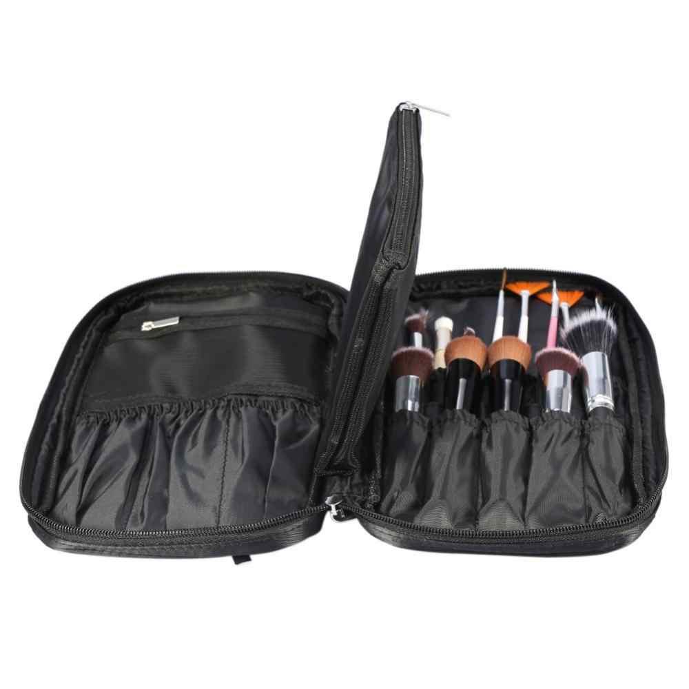 Pincéis de Maquiagem profissional Saco Titular Organizador De Higiene Pessoal Cosméticos Bolsa Pouch (Black)
