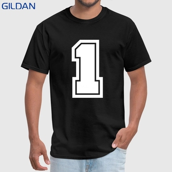Men T Shirt Funny Fashion Round Neck Tshirt Number One Classical Plus Size 3xl Top Tees Men T-Shirt High Quality Camisas Negras