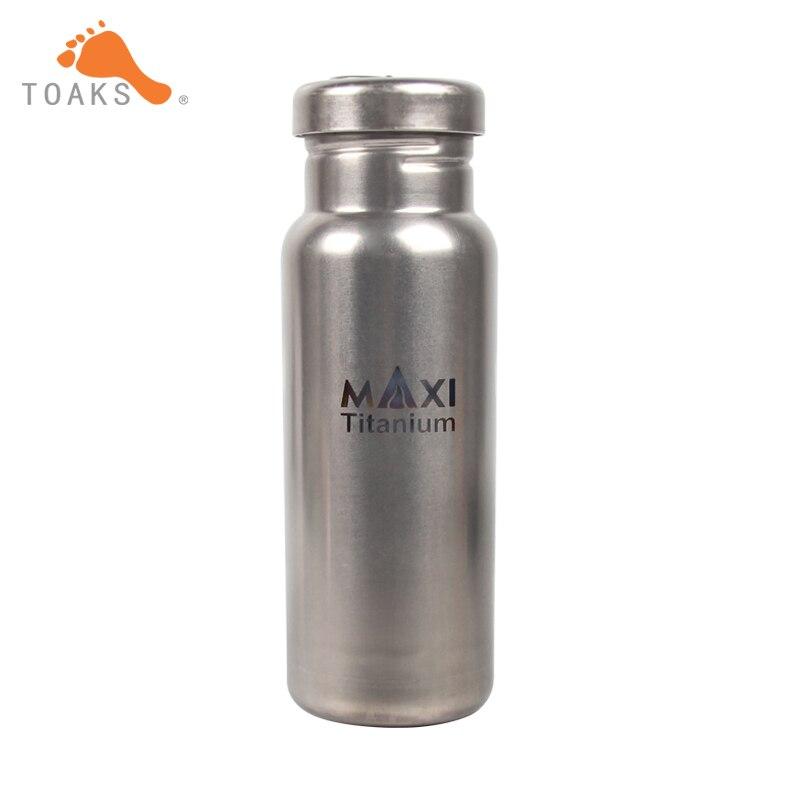 TOAKS 800ml Titanium Sports Bottle Ultralight Titanium Water bottle Camping Travel Bicycle Drinkware Bottle WB-800