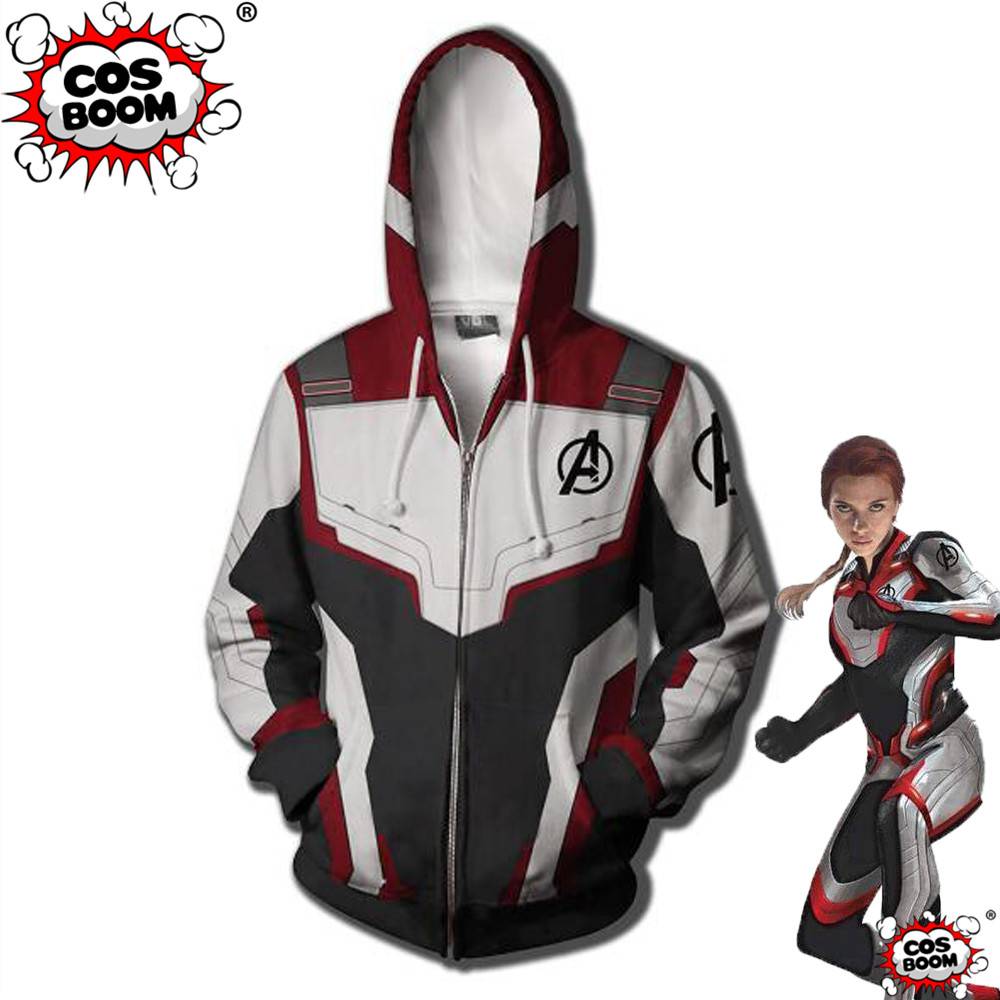 Us 16 99 Cosboom Avengers 4 Endgame Quantum Realm Costume Hoodie Cosplay Captain America Black Widow Superhero Jacket Cosplay Costume In Movie Tv