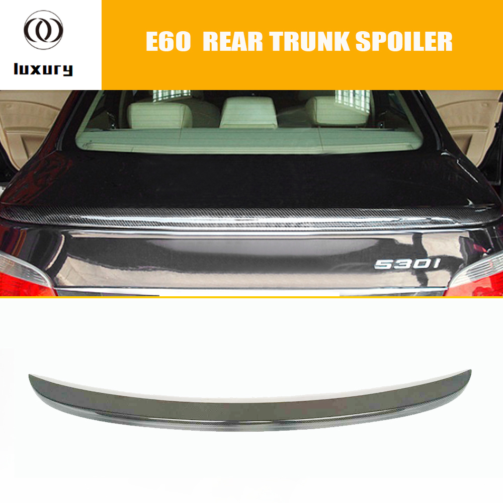 M5 Style E60 Carbon Fiber Rear Wing Spoiler for BMW E60 520i 523i 530i 535i 520d 525d 530d 535d M5 2004 - 2006 free shipping polymer lithium battery 651230 3 7v 200mah can be customized wholesale ce fcc rohs msds quality certification