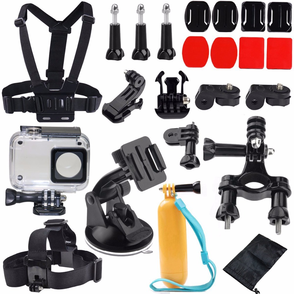 Xiaomi Yi 2 4K Accessories Kit Waterproof Housing Case Head Strap Chest Harness Car Suction Cup Bike Handlebar Floating Grip