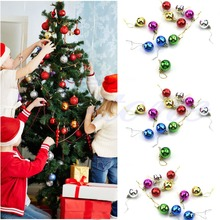 12pcs 3cm Christmas Ball Baubles Tree Hanging Ornament Decor Multicolor Xmas Gift