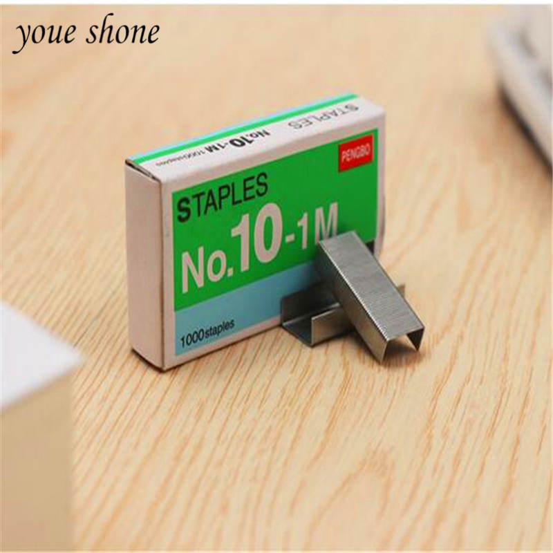 1boxes Small Silver Metal  Staples Office Binding General Small Staples No. 10 Staples For Office 5*2.7*1cm