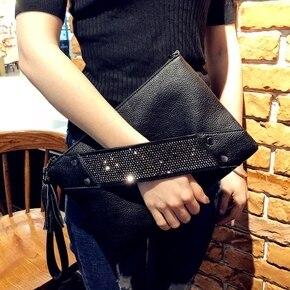 Image 5 - Mode Vrouwen Clutch Bag Leer Vrouwen Envelop Tassen Clutch Bag Vrouwelijke Koppelingen Handtas Lady Schouder Messenger Bags