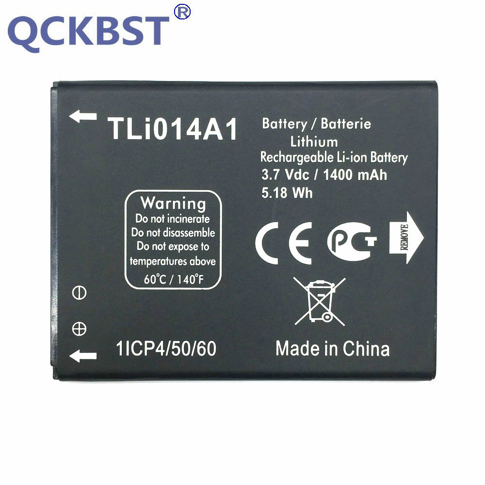 QCKBST New CAB31P0000C1 / CAB31P0000C2 TLI014A1 1400mAh Li-ion Battery Batterij For Alcatel one touch Fire 4012 4012A 4012X