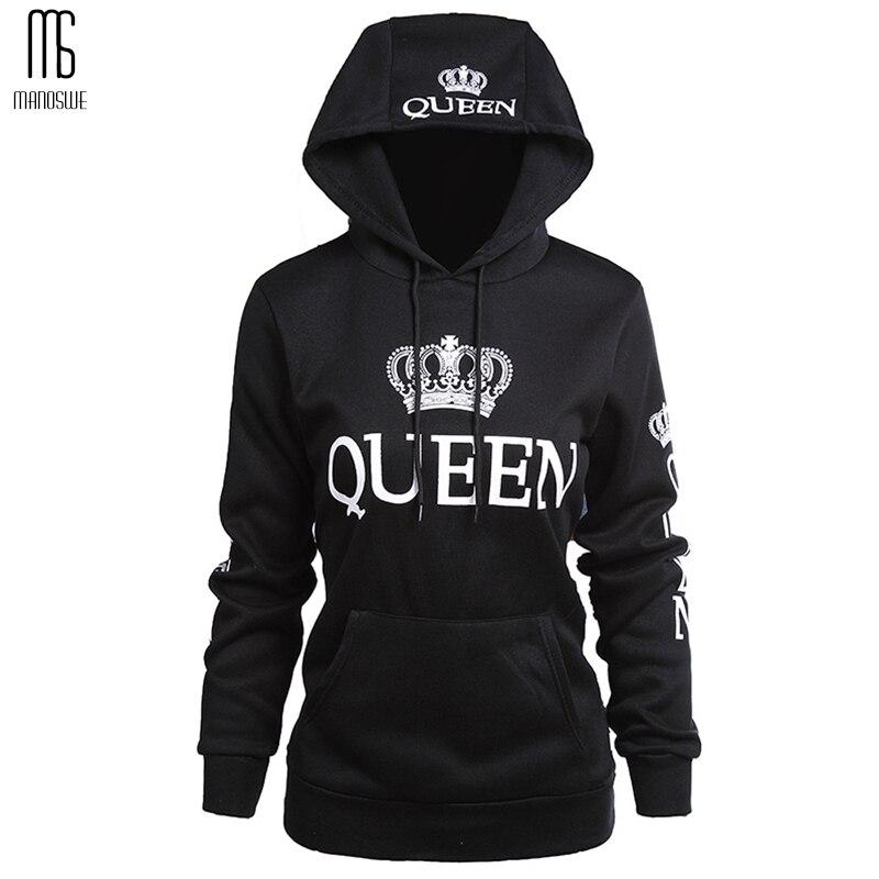 KING Queen Winter Women Hoodies Sweatshirts Plus Size Long