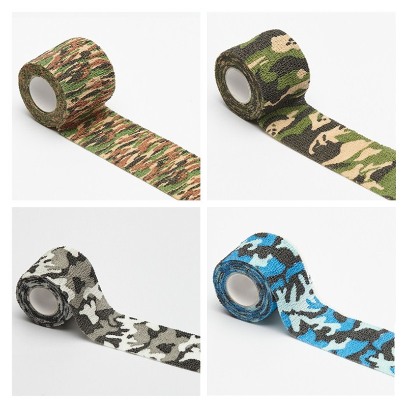 5cmx4.5m Camping Camo Outdoor Hunting Shooting Tool Camouflage Stealth Tape Waterproof Wrap Durable Sports Safety