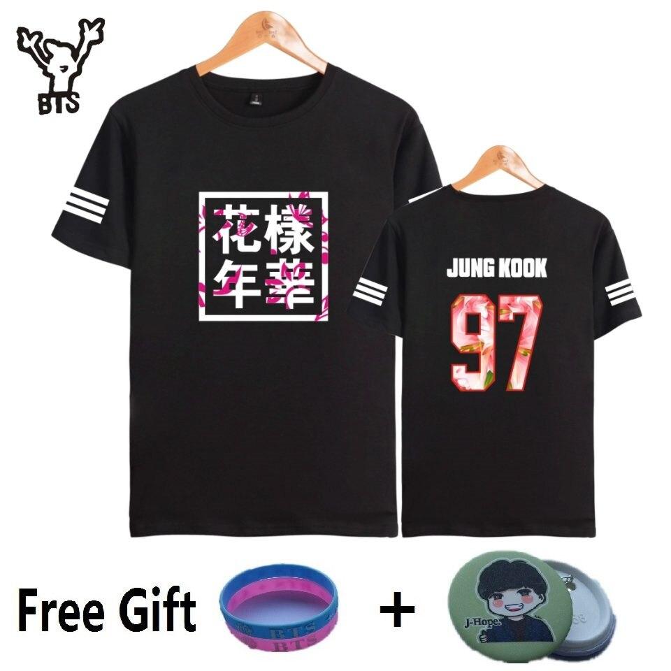 BTS Kpop Kurzarm T Shirts Koreanische Bangtan Boys Mode T-shirt Frauen/männer k-pop Baumwolle Casual Hüfte hop Lustige 4XL plus größe