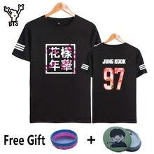 65cdfe5d211c3 BTS Kpop À Manches Courtes T Chemises Coréenne Bangtan Garçons De Mode T- shirt Femmes hommes k-pop Coton Casual Hip Hop Drôle 4X.