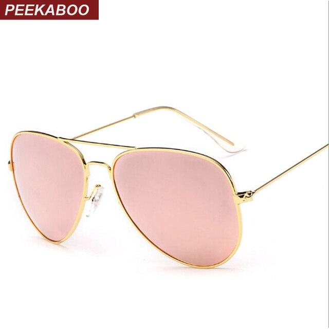 Peekaboo de nueva moda de los hombres gafas de sol polarizadas de metal  azul Rosa reflectantes d892c7c2feb4