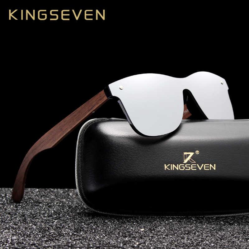 KINGSEVEN 2019 męskie okulary spolaryzowane orzech drewna