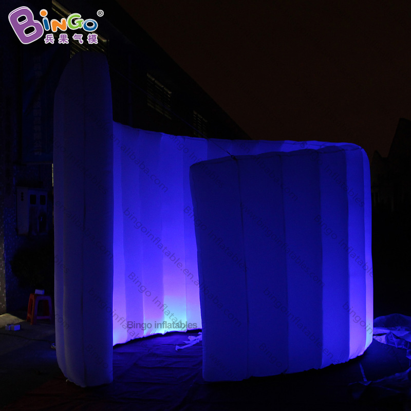 EXQUISITE CRAFT 3x3m inflatable curve photo tent balloon spiral lighting LED booth custommade for advertising background shuttleEXQUISITE CRAFT 3x3m inflatable curve photo tent balloon spiral lighting LED booth custommade for advertising background shuttle