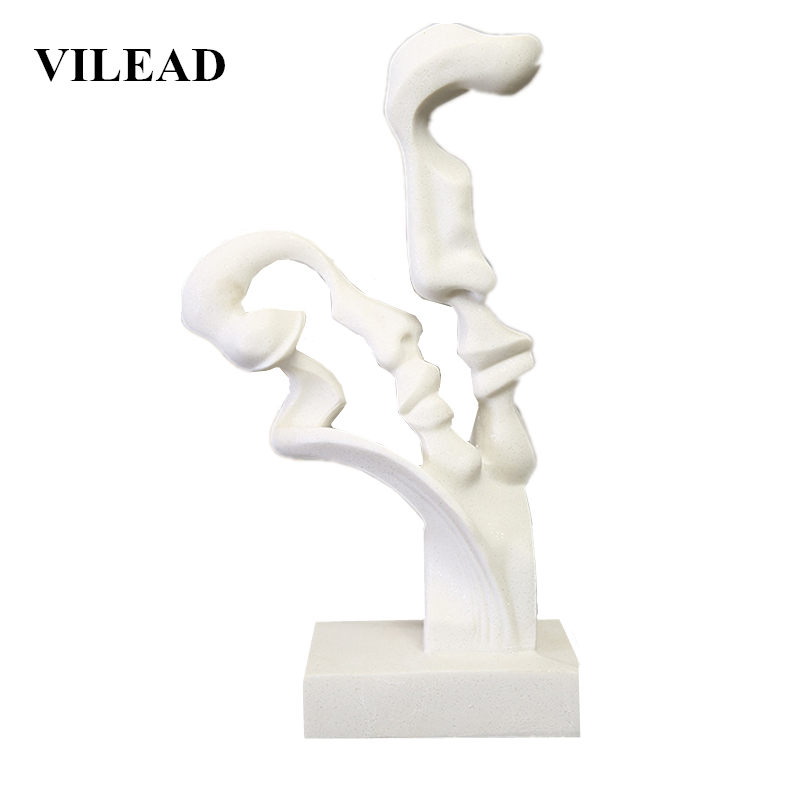 VILEAD 14.1 White Sandstone Abstract Lovers Statue Creative Love Couples Figurines Weeding Gifts Home Decoration Accessories VILEAD 14.1 White Sandstone Abstract Lovers Statue Creative Love Couples Figurines Weeding Gifts Home Decoration Accessories