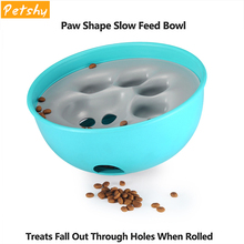 Petshy Funny Pet Dog Feeding Food Bowls Removable Dogs Cats  Toys Tumbler Leakage Ball Pets IQ Training Interactive Toy