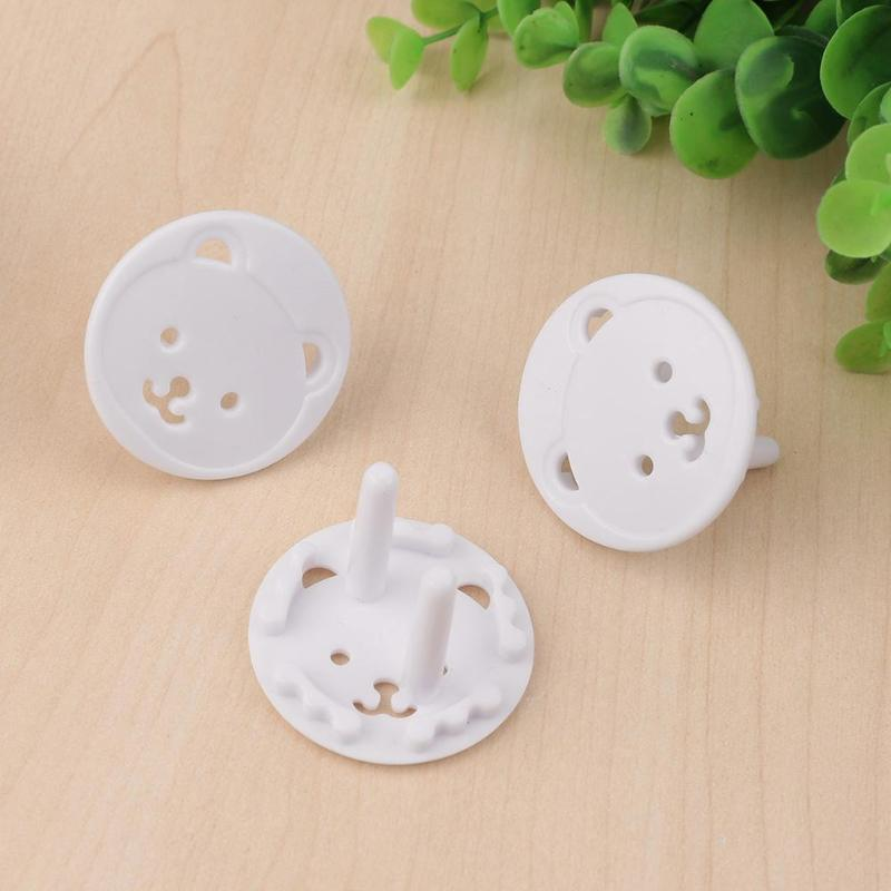 10/20pcs Safety Outlet Plug Cover Child Cartoon Bear Shape Baby Proof Electric Shock Guard Cap For Baby Safe Protection