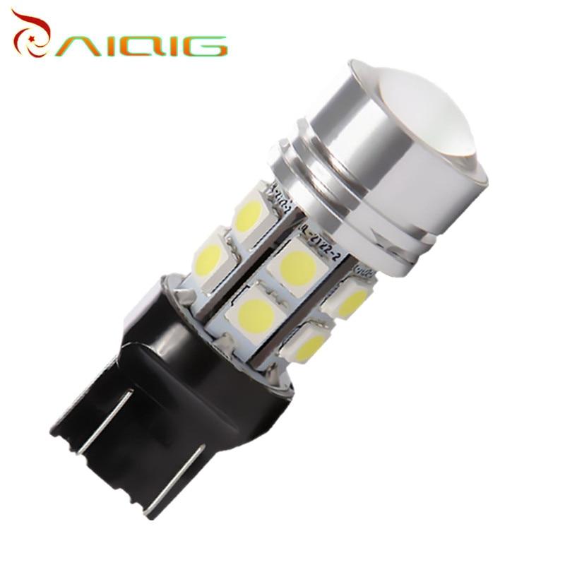 7440 7443 led High Power 12 SMD 5050 Pure White 5W Lamp w21/5w led car bulbs rear brake Lights Car Light Source 12V 24V