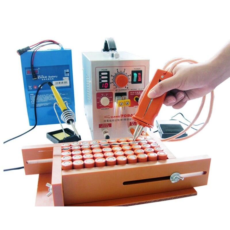 SUNKKO 709AD Spot soudeur 2.2KW Haute puissance batterie Spot Machine De Soudage 18650 16430 Spot soudeur 18650 Pulse spot soudeurs 110 230 v