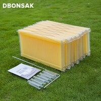 7 шт. автоматические медовые рамки для ульев Langstroth Hive пластмассовая рамка для улей комплект рамки для ульев металлический ключ потока трубы