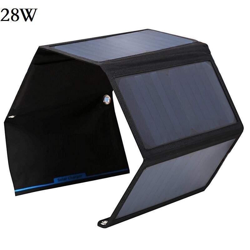BUHESHUI Sunpower 28 W 21 W 14 W Panneau Solaire Chargeur Pour Iphone puissance Banque Chargeur de Batterie 5 V Dispositif Double USB Haute Efficacité Fold