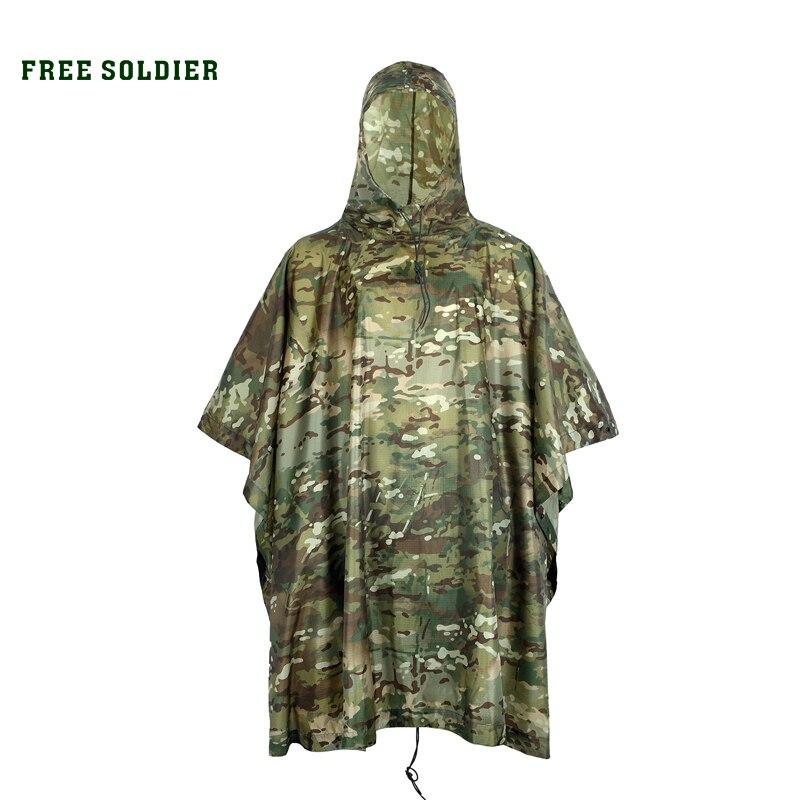 Free soldier camping senderismo camuflaje/camo cubierta al aire libre chaqueta c