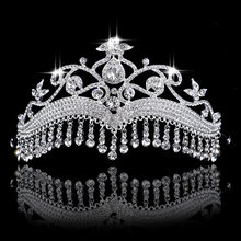 European models Princess Crown tassel Hair band Prom Diadem Wedding Tiaras and Crowns Ornament hair jewelry accessories