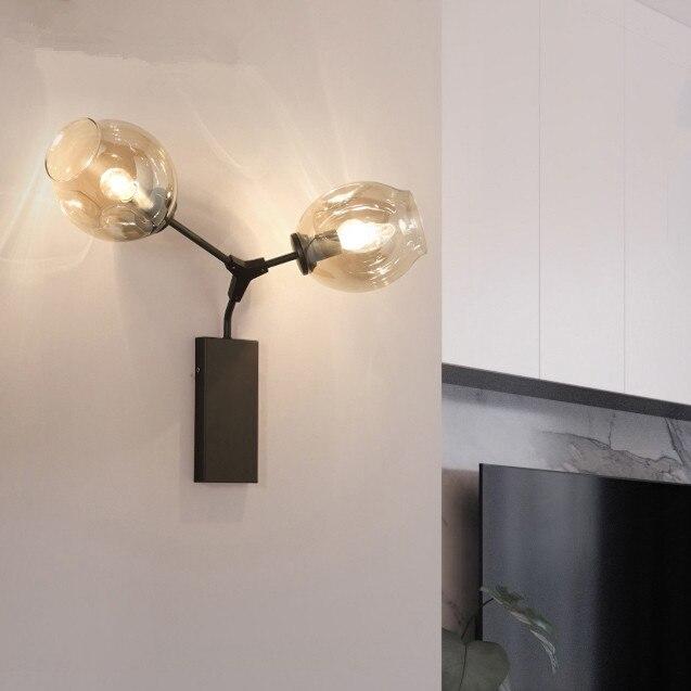 Lindsey adelman modern wall light lamp gold American European tree LED post modern wall lamp light fixture with glass shade modern contemporary glass shade wall light pendant lighting light fixture zzp8325a