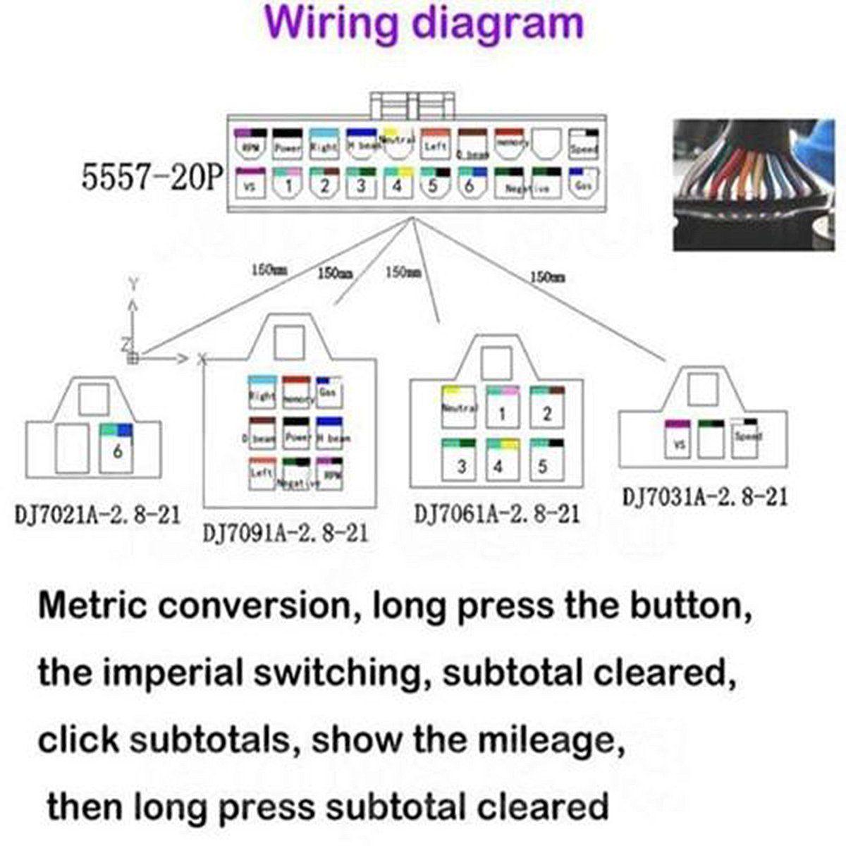 dual tachometer wiring diagram 12000 rpm kph mph lcd universal digital motorcycle speedometer  12000 rpm kph mph lcd universal digital