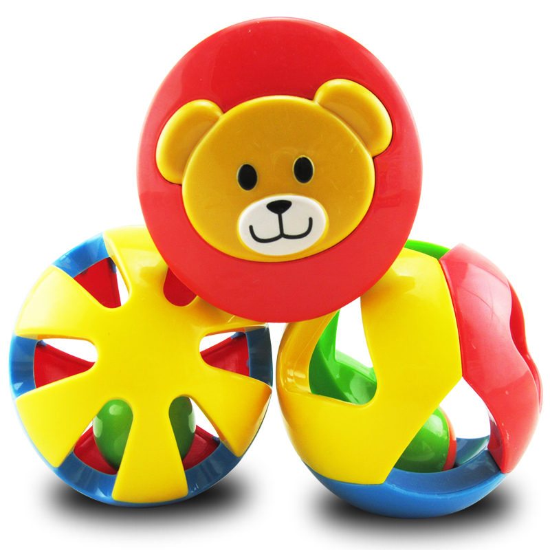 Купить с кэшбэком 3pcs Infant Rolling Ball Child Puzzle Grasping Toy Bell Balls 6 -12 Months