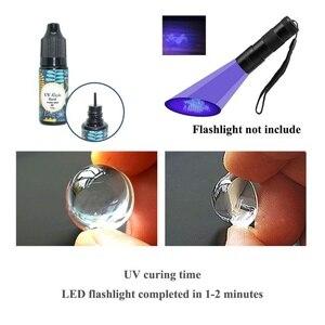 Image 2 - UV ברור גימור דבק משולבת דק ועבה מיידי לרפא סופר ברור UV דבק לטוס קשירת מהיר ייבוש דבק טוס דיג כימי