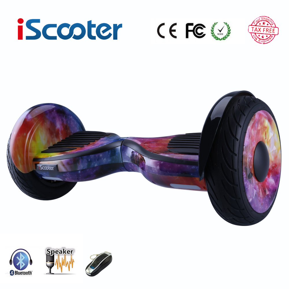 Free shipping Hoverboard 10 inch two wheel smart self balancing scooter electric skateboard with Bluetooth speakers giroskuter popular big electric one wheel unicycle smart electric motorcycle high speed one wheel scooter hoverboard electric skateboard