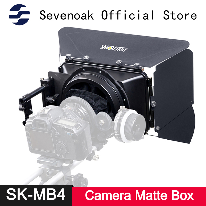 Sevenoak SK MB4 Camera Matte Box 15mm Supporting Rods for Follow Focus System for Canon 1D3 D90 600D Nikon Sony DSLR Accessories