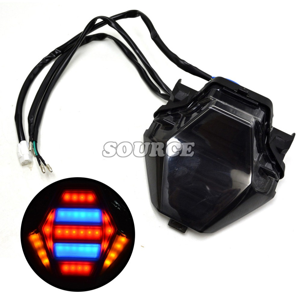 ФОТО Hot sale Rear motorcycle accessories rear brake integrated turn tail Led Light For Yamaha YZF R25 R3 mt 07 2013 2014 2015 2016