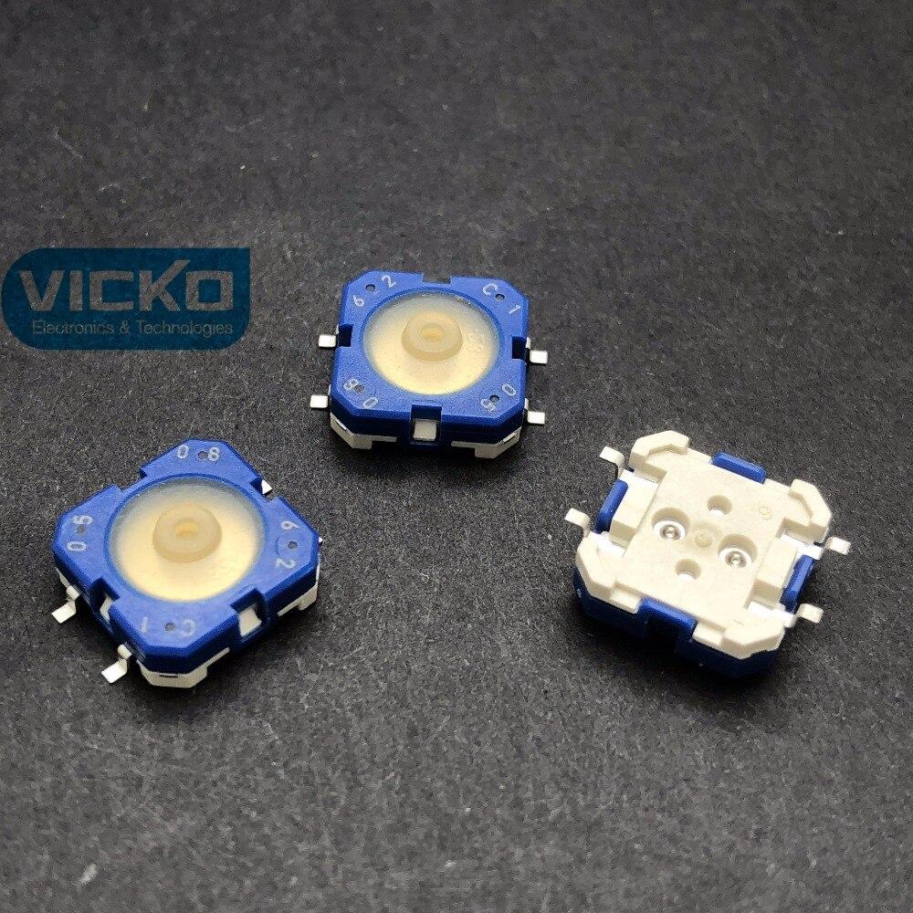 50 pièces/100 pièces RAFI SMD RACON 12 allemagne 12*12*5mm 12*12mm lumière tactile interrupteur SMT kone bouton de levage 1.14.001.503/0000