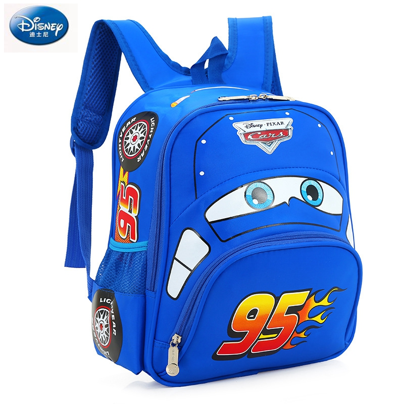 Image 4 - Disney cartoon car children backpack kindergarten girls boys 95 team backpack primary school students 3 6 years old-in Backpacks from Luggage & Bags