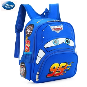 Image 4 - Disney cartoon car children backpack kindergarten girls boys 95 team backpack primary school students 3 6 years old