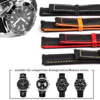 Bracelet de montre toile cuir Nylon pour Omega couturier deville 19mm 20mm 21mm 22mm 23mm bracelet de montre pour AQUARACER cinquante ceinture de Fathoms