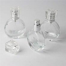 1 יחידות 20 ml ברור ריק זכוכית בקבוקי בושם מרסס בקבוק למילוי חוזר ריסוס ספריי בניחוח מקרה עם גודל נסיעות נייד משפך