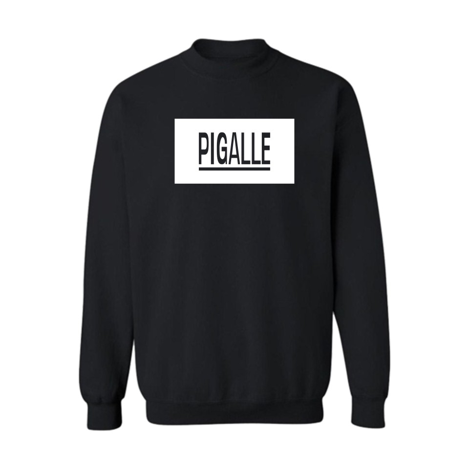 New Arrival Print Hoodies Pigalle kris Black Men Fashion And Hip Hop Style Cotton Sweatshirts Funny Luxury In Plus Size 4XL