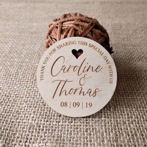 Image 2 - Thank You Wedding Favors Wedding Favor Magnet, Bride, Groom, Gift, Save the Date