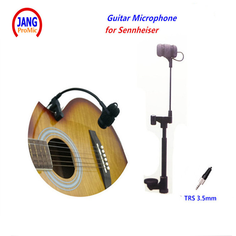 Professional Geoogenseck Musical Guitar Microphone Instrument Microfone for Sennheiser Wireless System 3.5mm Screw Jack Mikrofon new arrival screw nut plug saxophone trumpet erhu musical woodwind instrument microphone prevent mechanical noise for helicopter