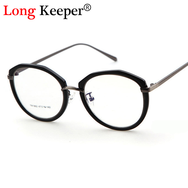 Long Keeper Eyeglass Frames Retro Men Women Fashion Spectacle Oval ...