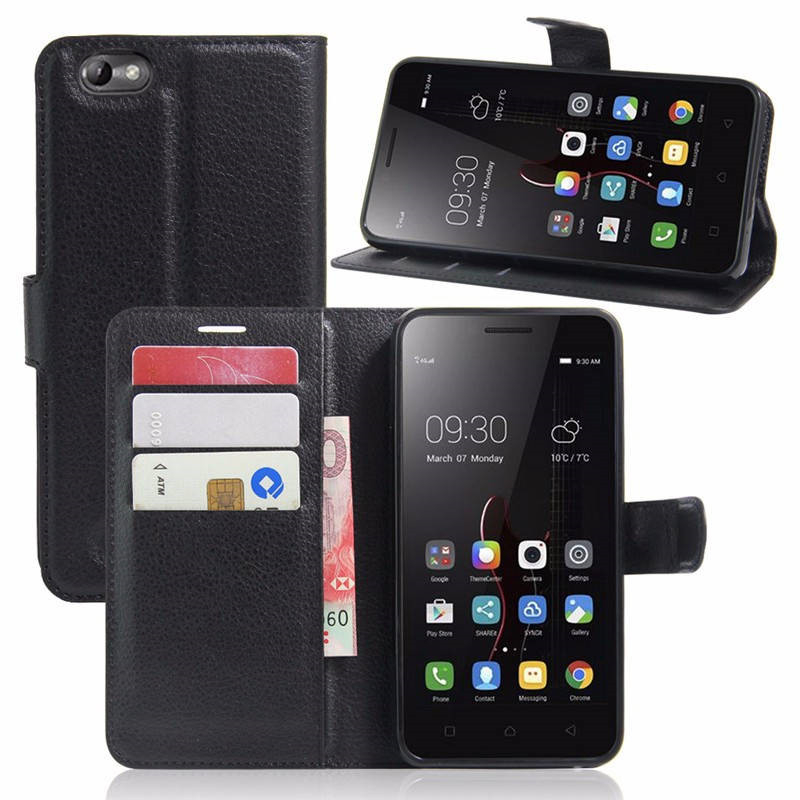 Lenovo A2020 Case Luxury Wallet Pu Leather Flip Case Cover