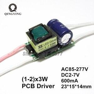 50 шт. 3 Вт 5 Вт 6 Вт Мощный светодиодный драйвер 600мА 1x3 Вт 2x3 Вт DC2-7V изоляционные трансформаторы постоянного тока источник питания