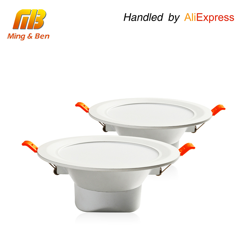 [MingBen] 2 יחידות LED שקוע Downlight עגול אלומיניום מנורת תקרת פנל 7 W 15 W 24 W AC85-265V 3000 k 4000 k 6000 k SMD5730 3 4 6 אינץ