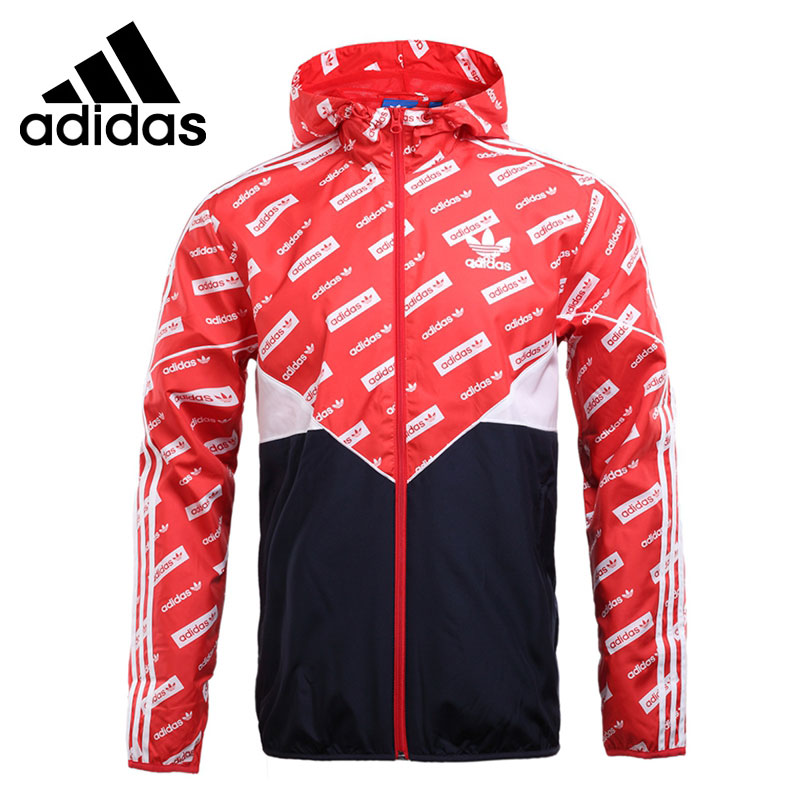 цена Original New Arrival Adidas Originals CLRDO WB AOP Men's jacket Hooded Sportswear