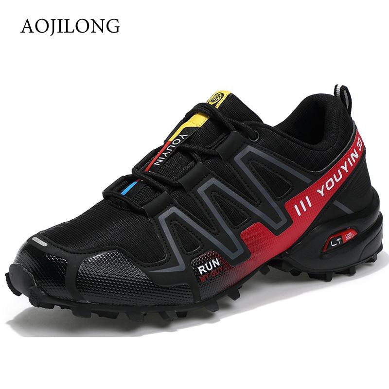 MANLI Big Size EUR Size 39-48 Outdoor Men Sneakers Brand Hiking Shoes Men Trekking Mountain Climbing Sneakers Walking Anti-skid все цены